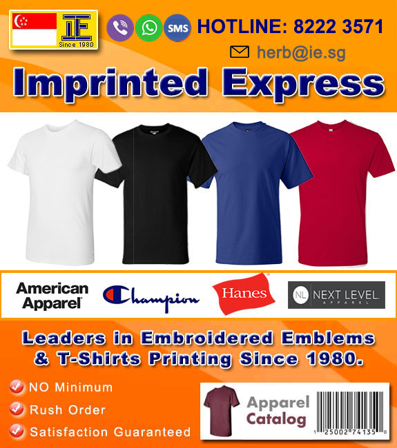 Express T-Shirt Printing | Embroidery Singapore | Imprinted